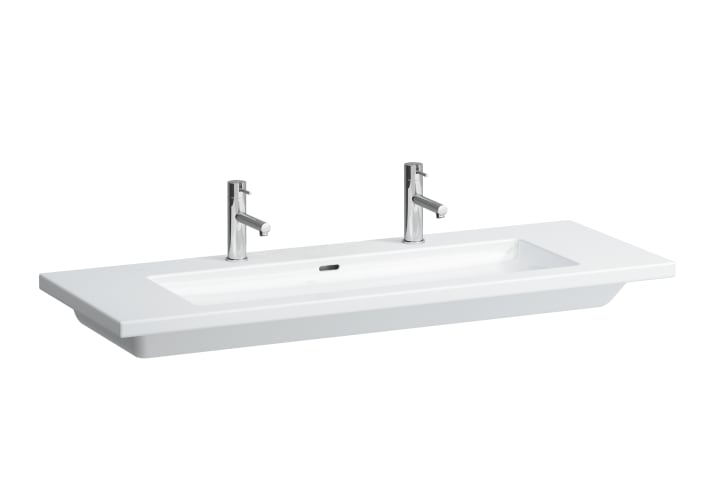 Washbasin, also usable as double washbasin